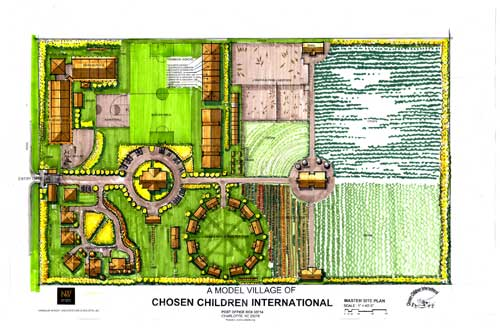 A layout of the Children's Village.